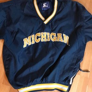 VINTAGE Michigan Starter Windbreaker!!